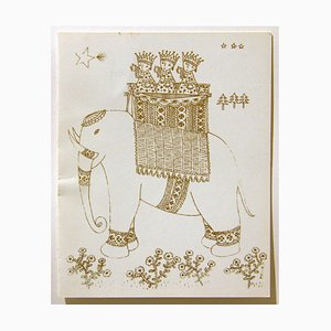 Christmas Card by Andreina Pagnani - 1961