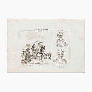 Unknown, Basques Costumes, Lithografie, 19. Jahrhundert