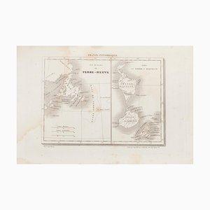 Unknown - Karte von Terre Neuve - Original Radierung - 19. Jahrhundert