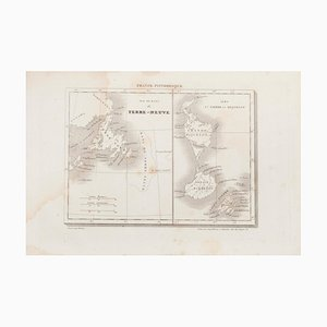 Unknown - Map of Terre Neuve - Original Etching - 19th Century