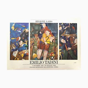 Vintage Exhibition Poster by Emilio Tadini, 1992