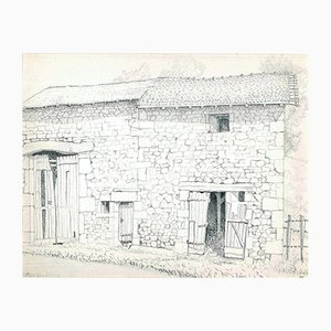 Andrew Roland Brudieux, Mountain Stables Is Thief, Pencil Drawing, 1960s