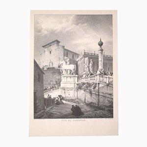 Godefroy Engelmann, Ansicht von Rom, Vintage Offsetdruck, frühes 20. Jahrhundert