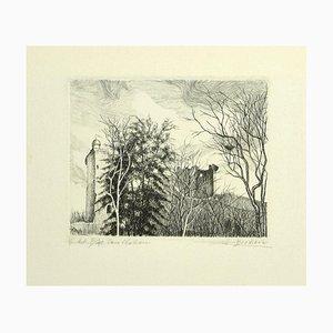 André Roland Brudieux - Landschaft - Radierung auf Papier - 1970er Jahre