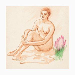 Unknown - Nude - Original Aquarell auf Papier - Frühes 20. Jahrhundert