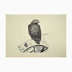 Aldo Turchiaro, Bird, Etching, 1974