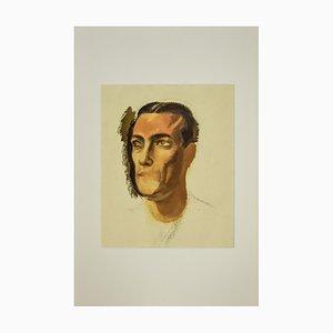 Inconnu, Portrait, Aquarelle, 1930s