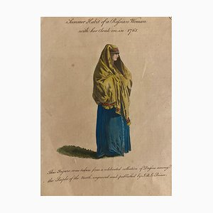 Unknown, Summer Costume of A Russian Woman, Etching by J.b. Le Prince