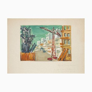 Unknown - Reconstruction - Original Tempera on Paper by Raymond Belloe - 20th Century