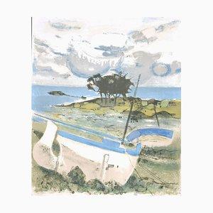 Michel Rodde, Landscape, Lithograph, 1960s