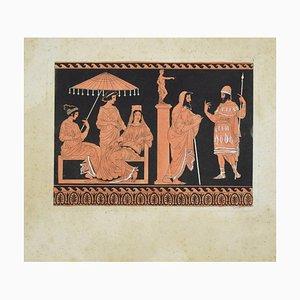 Unknown - Pompei - Original Handaquarell Radierung von Castelli - Frühes 20. Jahrhundert