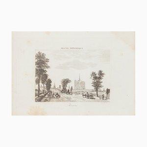 Unknown - View of Amiens - Original Radierung - 19. Jahrhundert