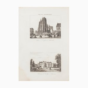 Unknown - French Castle - Original Etching - 19th Century