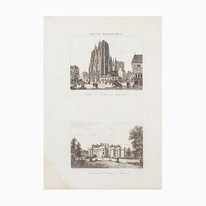 Unknown - French Castle - Original Radierung - 19. Jahrhundert