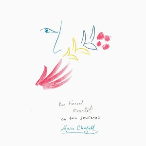 Marc Chagall, Souvenir, Lithographie, 1982