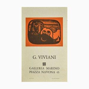 Affiche Giuseppe Viviani, Eyes, Vintage Offset, 1970