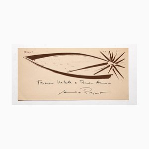 Gravure sur bois Arturo Peyrot - the Star - Original Woodcut - 1960s