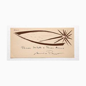 Xilografía original de Arturo Peyrot - the Star - años 60