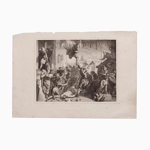 after Tintoretto - Venice - Original Etching on Paper - 1870