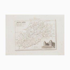 Sconosciuto, Mappa di Haute-Saône, Etching, XIX secolo