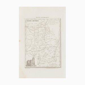 Sconosciuto - Mappa di Deux Sèvres - Incisione originale - XIX secolo