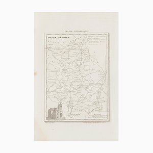 Unknown - Map of Deux Sèvres - Original Etching - 19th Century