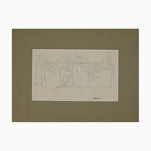 Charles Landelle - Albano - Crayon Original - Fin 19ème Siècle