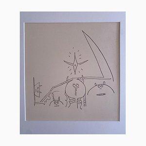 Wilfredo Lam - Composition - Original Lithograph - 1970s