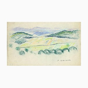 Pierre Segogne - Landscape - Original Pastel on Paper - Early 20th Century