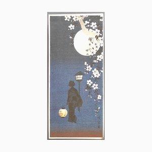 Utagawa Hiroshige, Kirschblüten in der Nacht, spätes 19. Jahrhundert