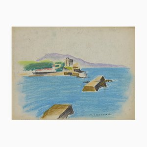 Pierre Segogne, Landscape, Pastel on Paper, Early 20th Century
