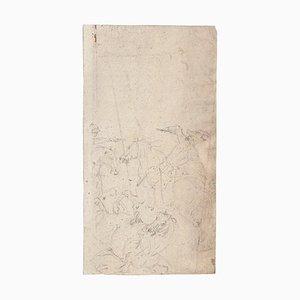 Desconocido - Caballos - Lápiz de dibujo original - Mid-20th Century