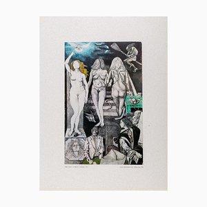 Renato Guttuso - Allegories: Lies - Vintage Offset Print - 1979