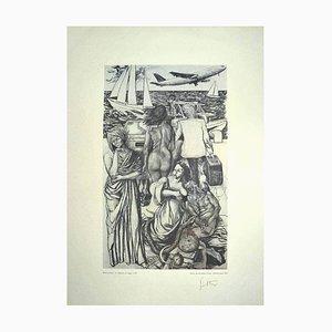 Renato Guttuso, Allegorien: Die Reise, Vintage Offsetdruck, 1979