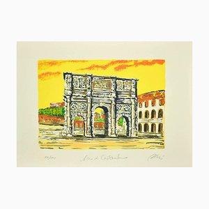 Marco Orsi - Roman Arch - Screen Print - 1980s