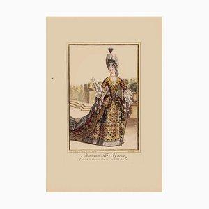 Unbekannt - Mademoiselle Rosine - Original Lithographie auf Papier - 19. Jahrhundert