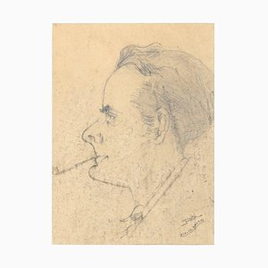 Unknown - Portrait - Original Pencil Drawing - 1925