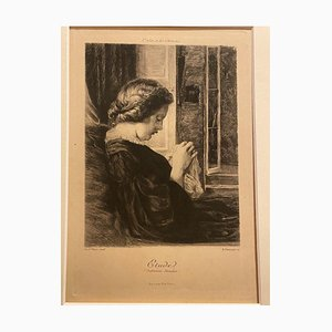 Fred Watts - Etude - Original Etching - Early 20th Century