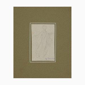 Charles Landelle - Figure - Original Pencil on Paper - Late 19th Century