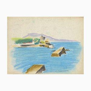 Pierre Segogne - Landscape- Pastel on Paper - Early 20th-Century