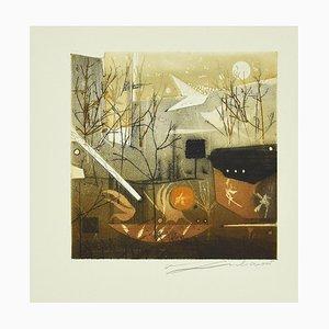 René Lubarow - Le Pigeon... - Etching by Renée Lubarow - 1978