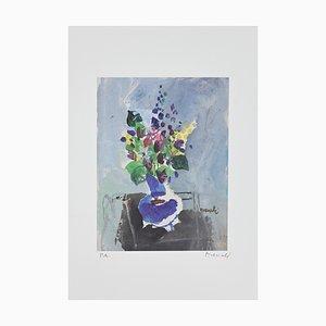 Marcello Avenali - Vase mit Blumen - Original Lithographie - 1950