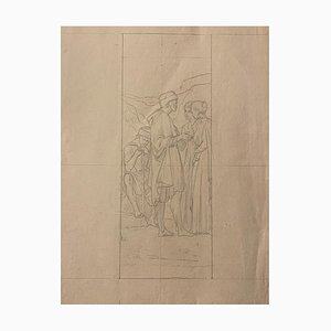 Study for A Painting - Pencil Drawing - Early 20th-Century