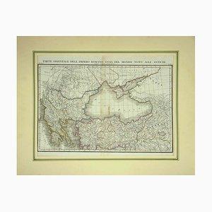 Sconosciuto - Mappa dell'Impero Romano d'Oriente - Stampa vintage offset - inizio XX secolo