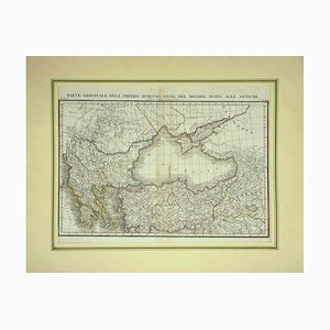 Unknown - Map of Eastern Roman Empire - Vintage Offset Print - Early 20th Century