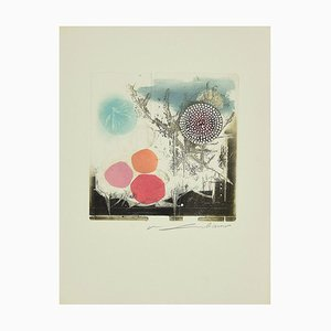 René Lubarow - Roses - Original Etching - 1978