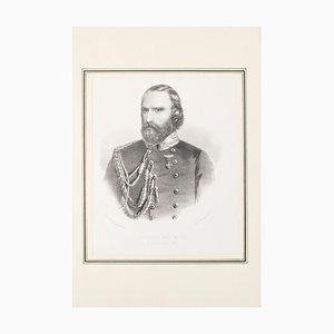 Garibaldi - Lithografie auf Papier - 1880er