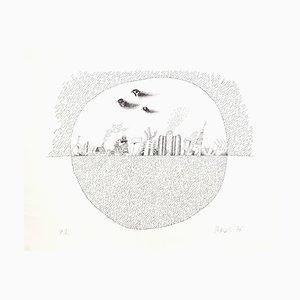 Unknown - Landscape - Original Lithograph on Paper - 1970s