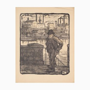 Marius Renard - Loneliness - Lithograph - Early 20th-Century