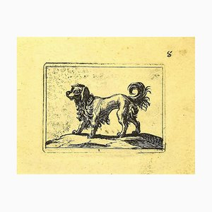 Antonio Tempesta - Dog - Original Etching - 1610s